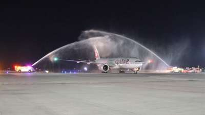 First landing of Qatar Airways Cargo in Guadalajara