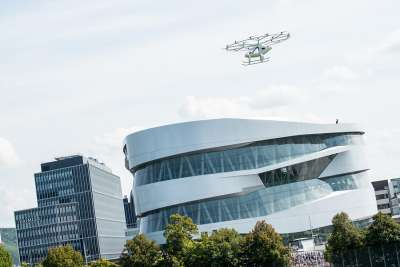 Volocopter eVTOL during the flight