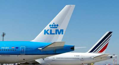 Air France and KLM tails