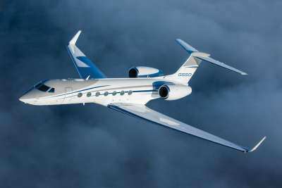 Gulfstream G550 business jet