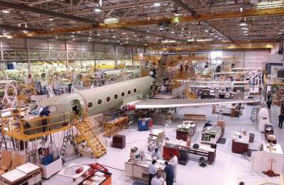 Gulfstream production line