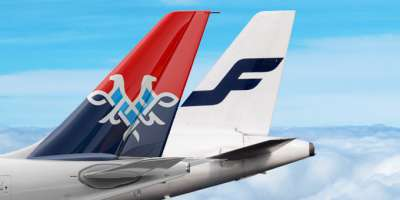 Finnair and Air Serbia tails