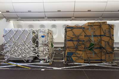 Cargo configuration in normal aircraft cabin