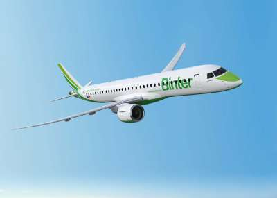 Delivery of Binter's first E195-E2 is expected for the second half of 2019.
